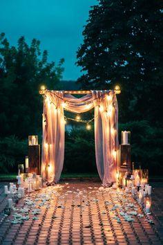 night wedding ceremony ночная церемония