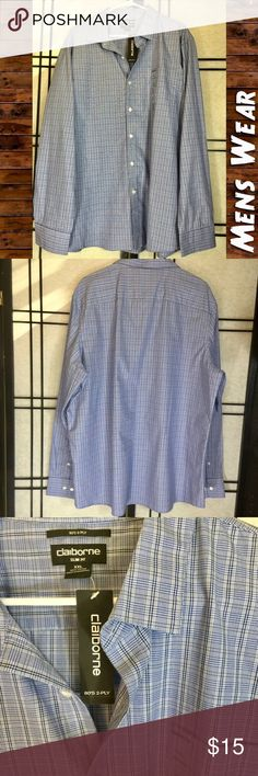 NWT Men's Claiborne LS Button Down, Sz XXL Your favorite fellow will look dashing in this long sleeve from Claiborne. Color is extreme blue. 80's 2ply, Slim fit. Size XXL. Please feel free to ask questions or bundle for the best savings. I ship within 24 hours. I do not trade. Thank you! Claiborne Shirts Dress Shirts