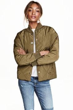 Quilted jacket: Lightly padded, quilted jacket in woven fabric with a slight…