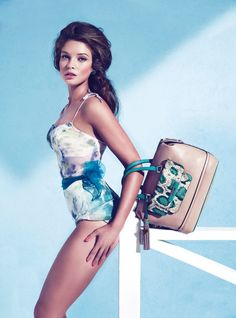 Sandrah Hellberg is Pin up Glam for the Guess Accessories Holiday 2012 Campaign by Claudia & Ralf Pulmanns