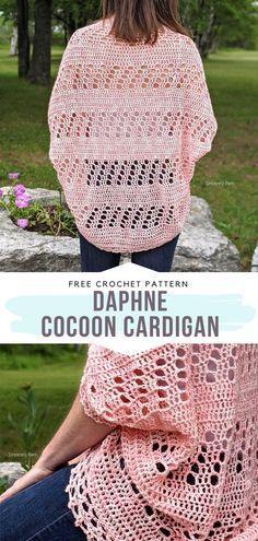 Crochet Sweaters, Crochet Tops, Crochet Cardigan, Crochet Clothes, Crochet Lace, Free Crochet, Freeform Crochet, Crochet Stitches, Crochet Patterns