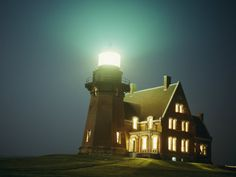 Lighthouse on Block Island Photographic Print by Michael Nichols at eu.art.com
