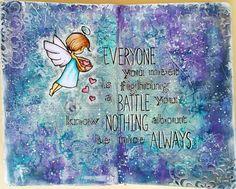 JIJI Cards - Art Journal Page 8: Battle #adayfordaisies