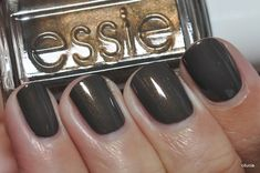 New favorite fall nail color: Essie Armed  Ready ♥this is too PRETTY! for when black isnt sparkly enough♥
