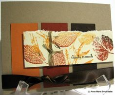luv the blending of colors on the stamped leaves...good design for this kraft card...