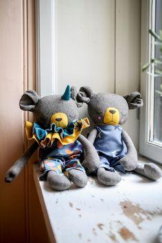 Handmade Bear Cloth Dolls by Peanut And Elliott