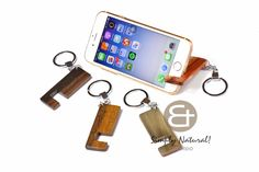 Unique smartphone accessories from the Philippines.  Wood stand keychain for iphone 3 4 5 6 and android phones. Watch your movies shows comfortably without holding your phone.