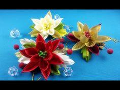 Easy Christmas hairpin/Pelo clips fasil de Navidad/Рождественские заколки: очень легко.МК - YouTube