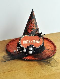 Two Peas in a Bucket-Gallery.  Cute way to decorate paper mache witch hat that Michael's sells.