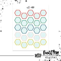 August 2019 Colors Grid Hexie Labels | Bible Journaling Printable Ephemera by Illustrated Faith Faith Bible, Illustrated Faith, The Perfect Touch, Grid, Journaling, Words, Illustration, Ephemera, Colors