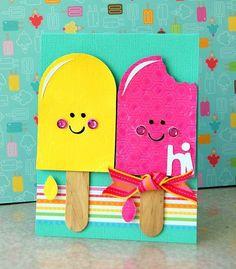 открытка с мороженным