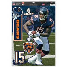 Chicago Bears Decal 11x17 Multi Use Brandon Marshall Design Special Order