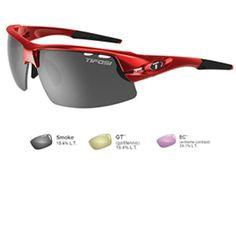 Tifosi Crit Golf Interchangeable Metallic Red Sunglasses - Smoke-GT™-EC™