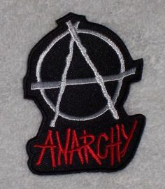 Embroidered Patch / Biker Patch: Anarchy Word Large / Anarchy Symbol Sign Anarchy Symbol, Biker Patches, Embroidered Patch, Human Rights, Dog Toys, Freedom, Sign, Wallpaper, Ebay