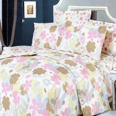 Blancho Bedding - [Pink Brown Flowers] Luxury 7PC Bed In A Bag Combo 300GSM (Full Size) by Blancho Bed in a bag. $191.96. Environment-friendly dyes; Fine and concentrated stitches; Machine washable and dryable.. Shrinkproof, anti-pilling and fading proof processes; 14 inches pocket size of the fitted sheet.. Full size contains two pillow shams, a fitted sheet, a duvet cover, a comforter and two pillow.. Full size comforter measures 76 by 87 inches with 45 oz hyp...