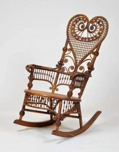 Exceptionnel Victorian Wicker Rocking Chair   Loveee This