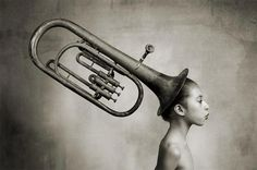 The Magic Baritone by ~mickryan on deviantART Always On My Mind, Black And White Photography, To My Daughter, Surrealism, Art Photography, Joy, Fine Art, Gallery, Artist