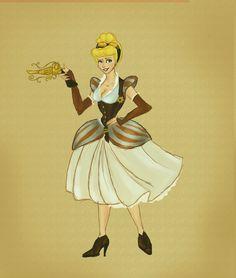 Steampunk time: Cinderella by ~WiedzmaZua on deviantART