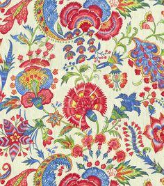 Upholstery Fabric-Williamsburg Grand Palampore JewelUpholstery Fabric-Williamsburg Grand Palampore Jewel,