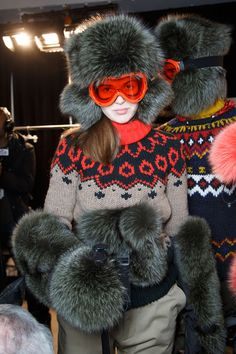 Moncler Grenoble at New York Fall 2015 (Backstage)
