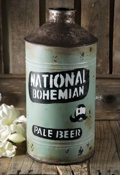 Vintage Beer Can Vase - natty boh!  ($34)
