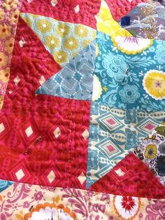 Hand quilting on flannel