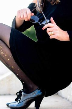 Look no further for style inspiration! These star sparkle tights for women are a stylish twist on classic black, sheer tights. Sparkly Tights, Cute Tights, Sheer Tights, Opaque Tights, Black Tights, Patterned Tights, Winter Looks, Cute Pattern, Star Print