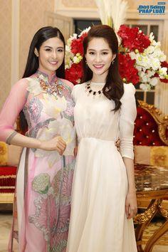Ngoc Han with ao dai Minh Hanh