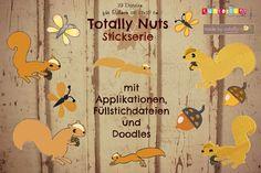 """❤ Stickdatei """"Totally nuts"""" ❤ für 13x18cm ❤  von made by cataffo auf DaWanda.com"""