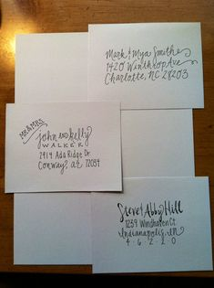 Handwritten Addressed Envelopes by thekatefont on Etsy, $0.75
