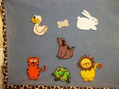 I borrowed this idea from Katie Fitzgerald over at Storytime Secrets . I was looking for an idea that would fit on my small flannel board....