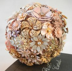 BLUSHING BRIDE Vintage Keepsake Wedding Bouquet par ZoeGraceBlooms, Woaw