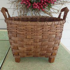 Footed Storage Basket. $52.00, via Etsy.
