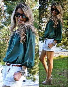 KD lady green and white Green Style, Style Me, Kappa Delta, American Eagle Shorts, Style Challenge, Flowy Tops, Green Fashion, Heartbeat, A Boutique