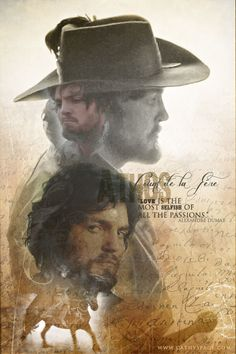 Athos graphic that I created - images from the BBC series The Musketeers with Tom Burke playing Athos.