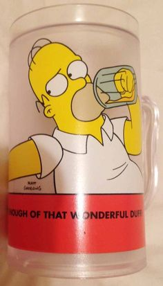 The Simpsons Homer Simpson Frosted Beer Mug Put in Freezer for Cold Drink