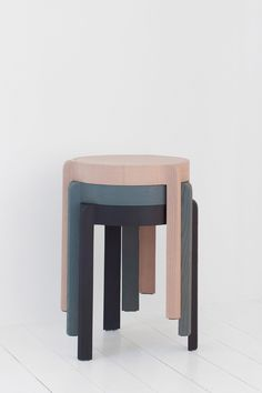Add is a minimalist stool created by Munich-based designer Steffen Kehrle. Diy Furniture, Furniture Design, Plywood Furniture, Modern Furniture, Portable Stool, Stackable Stools, Outdoor Stools, Minimalist Furniture, Wooden Stools