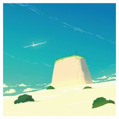 Fantasy Places, Sci Fi Fantasy, Ocean Games, Sky Adventure, Hero's Journey, Landscape Background, Cool Backgrounds, Anime Artwork, Environmental Art