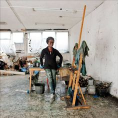 Lynette Yiadom-Boakye's studio