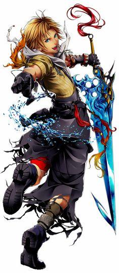 Final Fantasy X- Tidus so amzing art Final Fantasy Cloud, Final Fantasy Xiv, Final Fantasy Collection, Final Fantasy Artwork, Final Fantasy Characters, Video Game Characters, Final Fantasy Tattoo, Fanarts Anime, Anime Manga