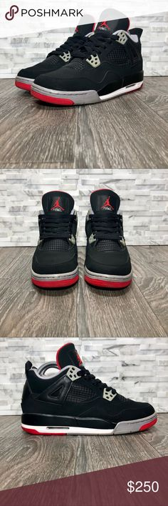 Air Jordan Retro 4 Bred 2012 Womens Size 7 1b7716cbb