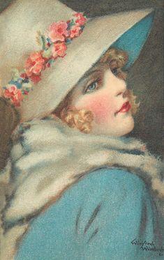 Ретро коллекционное ассрорти - старые открытки | Шляпное...дамское. Комментарии : LiveInternet - Российский Сервис Онлайн-Дневников