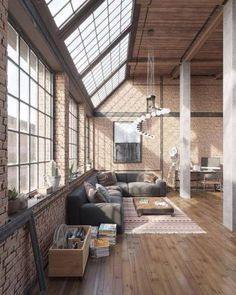 desvre interior loft  | CGI Industrial Loft by Roman Kolyada, using the Bricks and Wood textures.