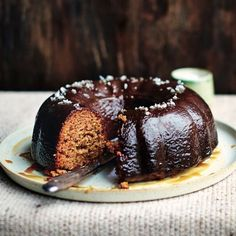 It's great served in a bundt pan like this and looks pretty spectacular, but feel free to go old school and bake it in a pan if you prefer. Enjoy.