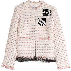 MSGM Embellished Bouclé Jacket