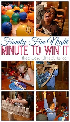 Minute-to-Win-It Kids' Games Ideas