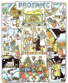 české vánoce josef lada