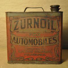 RARE Zurnoil For Automobiles - One Gallon Can O. F. Zurn Co. Philadelphia