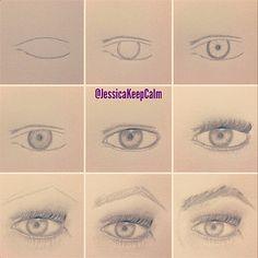 Aprenda a desenhar | olhos | KeepCalmDIY