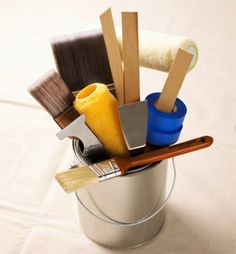 The Ultimate Painting Cheat Sheet  What finish of paint to use for rooms/trim/furniture.  What types of brushes and tools to use for different types of paint.